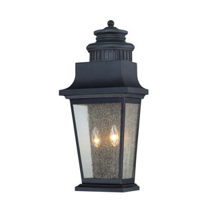 Barrister Slate Two-Light Outdoor Pocket Lantern