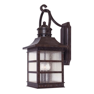 Seafarer Rustic Bronze Three-Light Small Outdoor Wall Mount