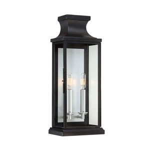 Brooke Black Two-Light Wall Lantern