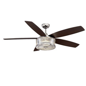 Phoebe Polished Nickel 56-Inch One-Light LED Ceiling Fan