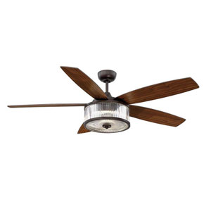 Phoebe English Bronze 56-Inch One-Light LED Ceiling Fan