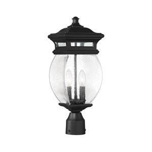 Seven Oaks Black Two-Light Outdoor Post Lantern