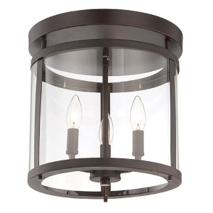 Penrose Bronze Three-Light Semi-Flush