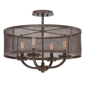 Nouvel Bronze Four-Light Semi-Flush
