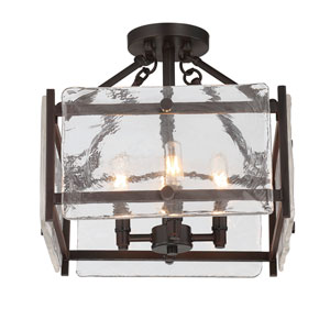 Glenwood English Bronze Four-Light Semi Flush