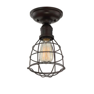 Scout English Bronze One-Light Semi Flush