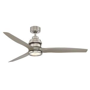 La Salle Satin Nickel LED Ceiling Fan