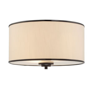 Grove Bronze Two-Light Flush Mount
