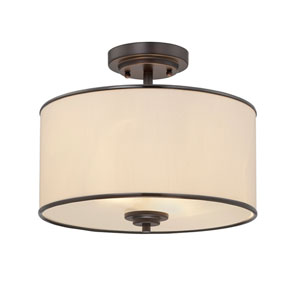 Grove Bronze Two-Light Semi-Flush
