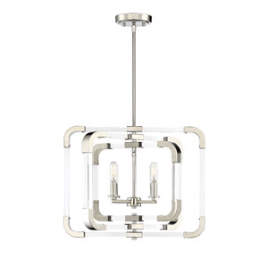 Rotterdam Polished Nickel Four-Light Semi-Flush Mount