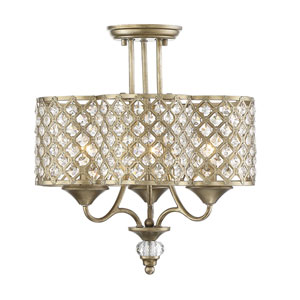 Regis Pyrite Three-Light Semi-Flush Mount