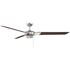 Monfort Polished Nickel  Three-Blade Ceiling Fan