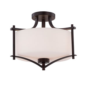 Colton Bronze Two-Light Semi-Flush