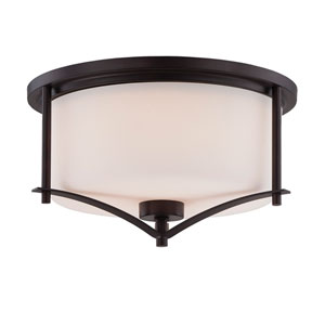 Colton Bronze Two-Light Flush Mount
