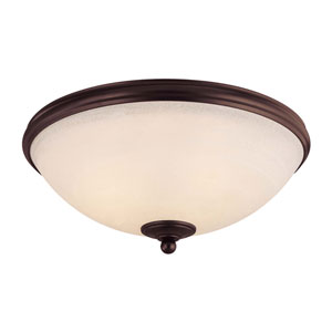 Willoughby English Bronze Flush Mount Ceiling Light