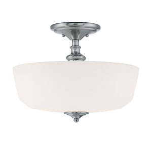 Melrose Chrome and Polished Nickel Two-Light Semi-Flush