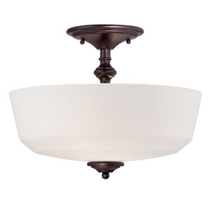 Melrose Bronze Two-Light Semi-Flush