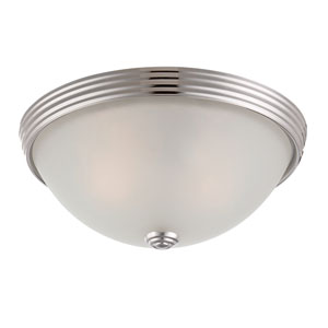 Savoy House 11-Inch English Polished Nickel Two Light Flush Mount
