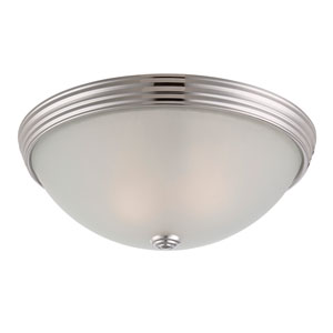 Savoy House 13-Inch English Polished Nickel Two Light Flush Mount
