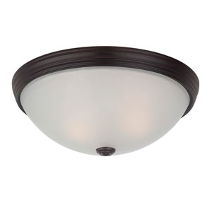 Savoy House 13-Inch English Bronze 4.5-Inch Two Light Flush Mount