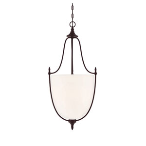 Herndon English Bronze 16-Inch Three-Light Pendant