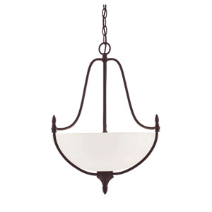 Herndon English Bronze 18-Inch Three-Light Pendant