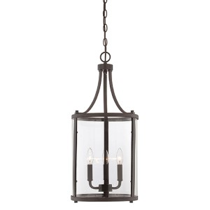 Penrose Bronze Three-Light Foyer Pendant