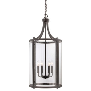 Penrose Bronze Six-Light Foyer Pendant