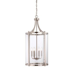 Penrose Satin Nickel and Pewter Six-Light Foyer Pendant
