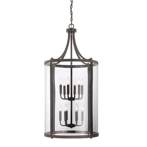Penrose Bronze 12-Light Foyer Pendant