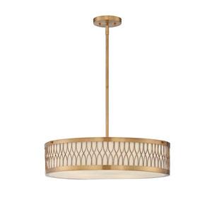 Spinnaker Warm Brass Five-Light Pendant