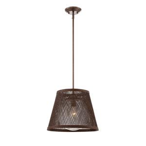 Messina Architectural Bronze 16-Inch One-Light Pendant