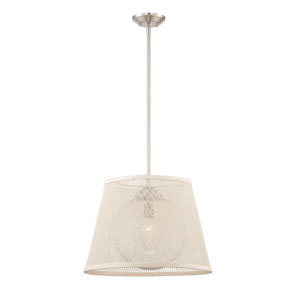 Messina Satin Nickel 20-Inch One-Light Pendant