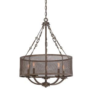 Nouvel Bronze Five-Light Pendant