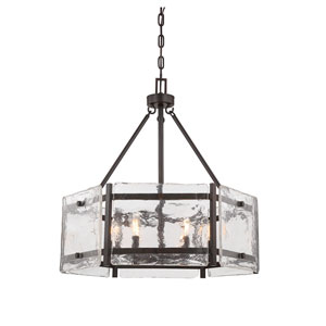 Glenwood English Bronze Six-Light Pendant
