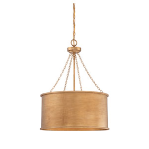 Rochester Gold Patina Four-Light Pendant