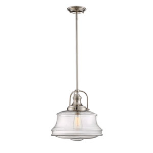 Garvey Polished Nickel One-Light Pendant