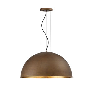 Sommerton Rubbed Bronze with Gold Leaf Three-Light Pendant