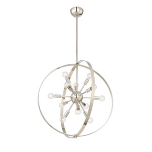 Marly Polished Nickel 12-Light Chandelier