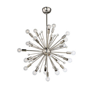 Loring Polished Nickel 24-Light Starburst Pendant