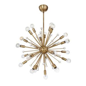 Galea Warm Brass 24-Light Pendant
