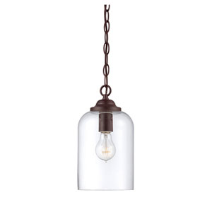 Bally English Bronze 6.5-Inch One-Light Mini Pendant