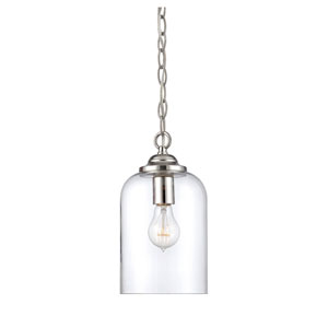 Bally Polished Nickel 6.5-Inch One-Light Mini Pendant