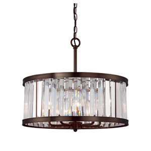 Tierney Burnished Bronze 21-Inch Five-Light Pendant