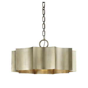 Shelby Silver Patina Three-Light Pendant