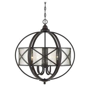Holland English Bronze Six-Light Pendant