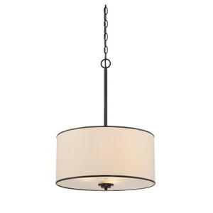 Grove Bronze Three-Light Pendant