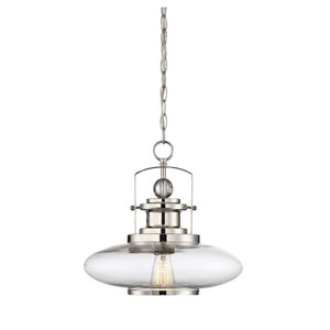 Mayfield Polished Nickel One-Light Pendant