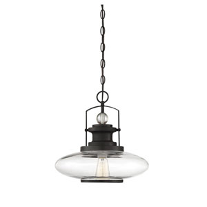 Mayfield English Bronze One-Light Pendant
