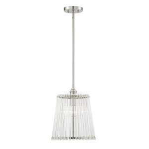 Manor Satin Nickel 12-Inch One-Light Pendant